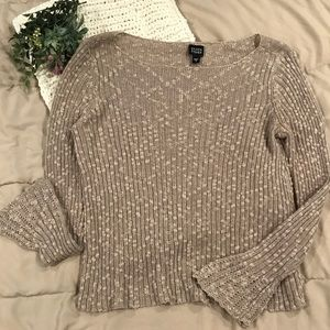 Eileen Fisher Tan Long Sleeve Sweater
